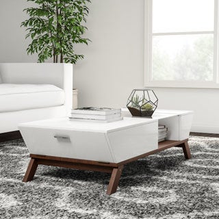Carson Carrington Dokka Glass Insert Coffee Table