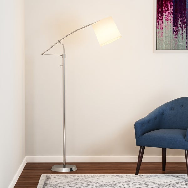Carson Carrington Tromso Brushed Steel Floor Lamp