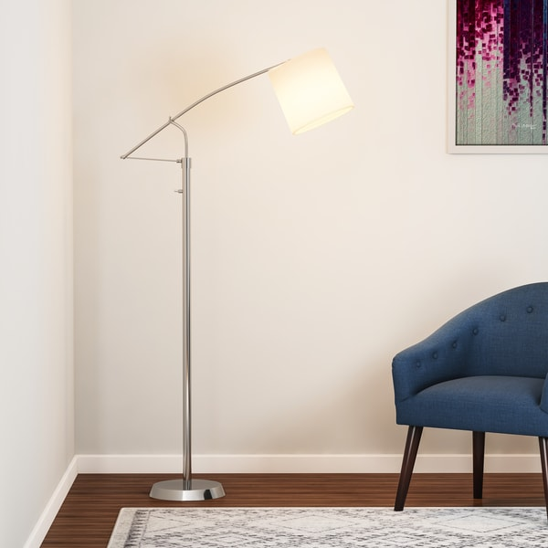 Strick & Bolton Kate Brushed Steel Floor Lamp