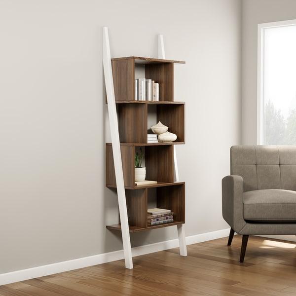 Shop Carson Carrington Lena 40shelf Twotone Bookshelf Display Stand Stunning Product Display Stands Canada