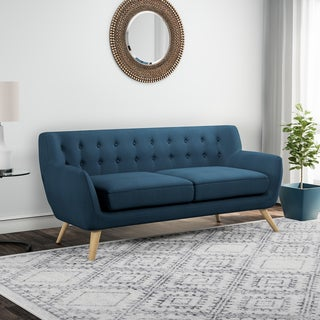 Carson Carrington Brandbu Button-tufted Mid-century Modern Sofa