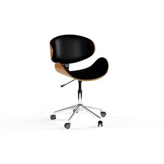Carson Carrington Malmo Black/ Wood Mid-century Office Chair (2 options available)