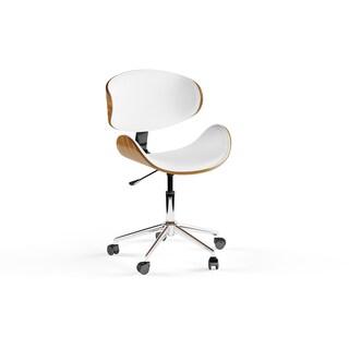 Carson Carrington Malmo Black/ Wood Mid-century Office Chair