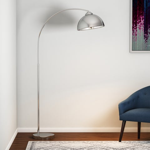 Carson Carrington Egersund Chrome Arc Floor Lamp