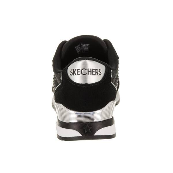 harmonious colors outlet sale search for newest Women's Skechers Sunlite Vintage Sparkle Sneaker Black/Silver