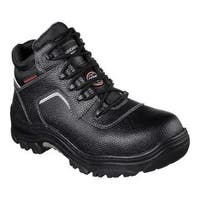 Men's Skechers Work Relaxed Fit Burgin Sosder Comp Toe Boot Black