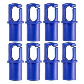 "Universal Trampoline Pole Cap Enclosure Net Hook Fits for 1"" or 1.5"" Diameter Pole - set of 8 - Blue"