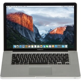 Apple MC723LL/A Macbook Pro 15.4-inch Quad Core i7 4GB RAM 750GB HDD Sierra- Refurbished
