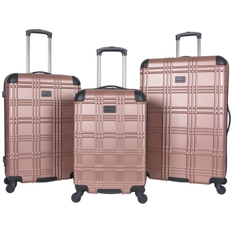 Ben Sherman Nottingham 3-Piece Lightweight Embossed Hardside Spinner Luggage Set