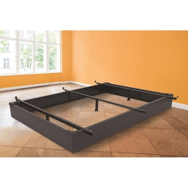 Rize Black Metal Panel Bed Base 7.5 Inch Height