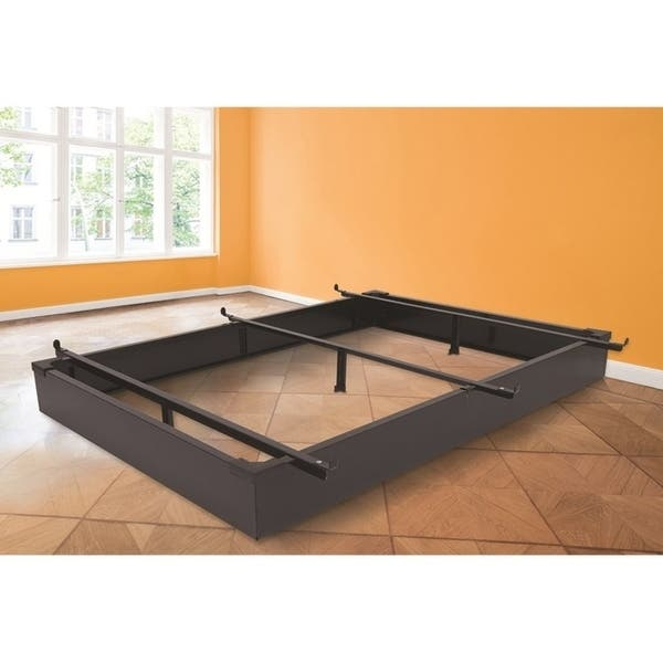 Rize Black Metal Panel Bed Base 7