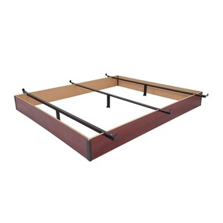 Rize Cherry Wood Panel Bed Base 7.5 Inch Height