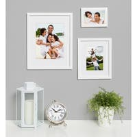 DesignOvation Gallery Wood Photo Frames Set of 4