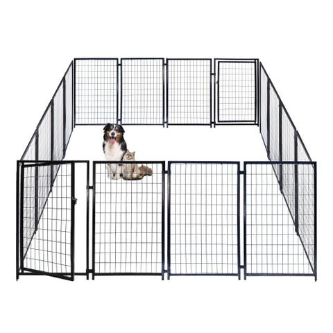 ALEKO Dog Kennel Pet Playpen Cage Fence 10X10X4 Feet
