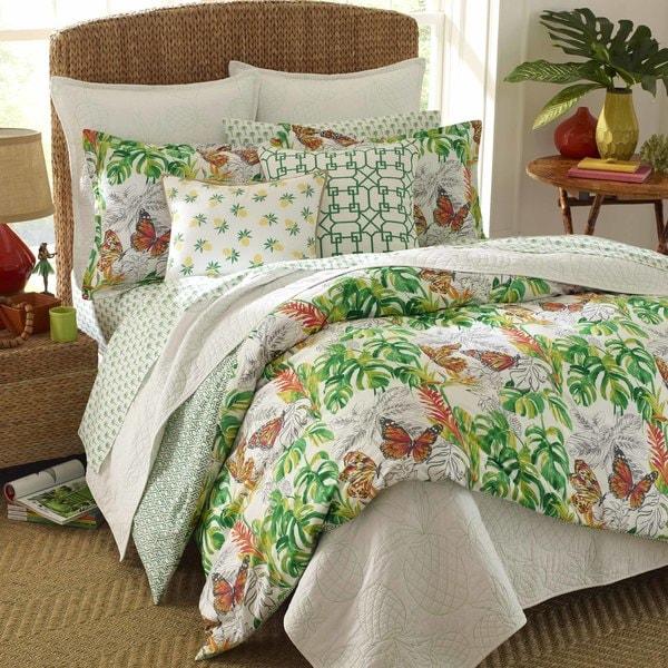 Superbe Nine Palms Butterfly Garden Comforter Set