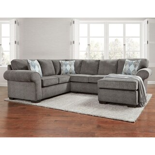 SofaTrendz Marlton Smoke Grey Sectional