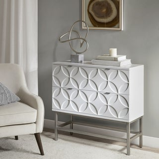 Madison Park Beacon White Wood 2-drawer Accent Chest