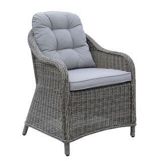 Furniture of America Selien Contemporary Outdoor Grey Wicker Arm Chair (Set of 2)