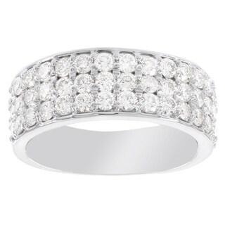 H Star 14 Karat White Gold 1 5/8ct Diamond Ring