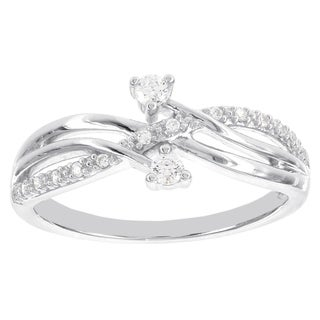 H Star Sterling Silver 1/6ct Diamond Promise Ring