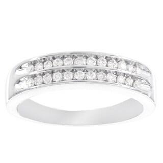H Star 10 Karat White Gold 1/4ct Diamond Ring