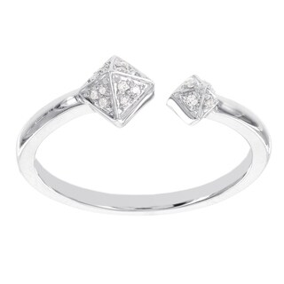 H Star Sterling Silver Diamond Accent Fashion Ring