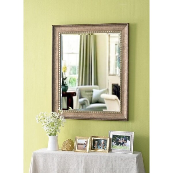 Shop Somme Wood Grain 36 Wall Mirror On Sale Free Shipping