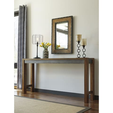Carbon Loft Gunnar Brown Long Counter Table