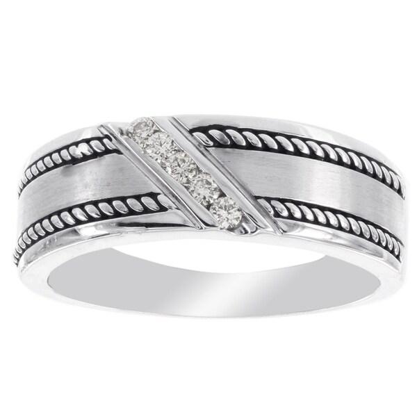 H Star 10 Karat White Gold 1 Carat Diamond Men X27