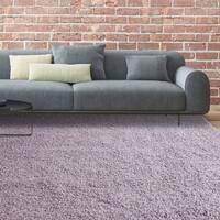 iCustomRug Bella Lilac Shag Area Rug - 8' x 10'