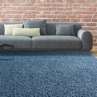iCustomRug Bella Shag Rug - Luxurious and Thick In Indigo Blue - 8' x10'