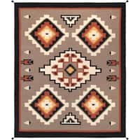 """Pasargad Reversible Multi Hand-Woven Wool Area Rug (8' 3"""" X  9'11"""")"""