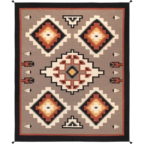 Pasargad Reversible Multi Hand-Woven Wool Area Rug - 8' x 10'