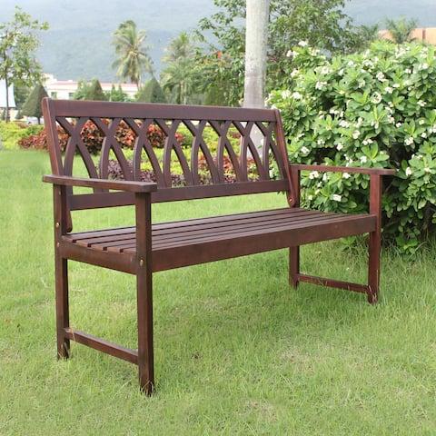 Jacksonville Criss Cross Garden Bench by Havenside Home