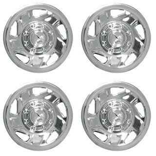 OxGord HC-2042-16CH 16 inch Chrome Hubcaps Set of 4 - 2042