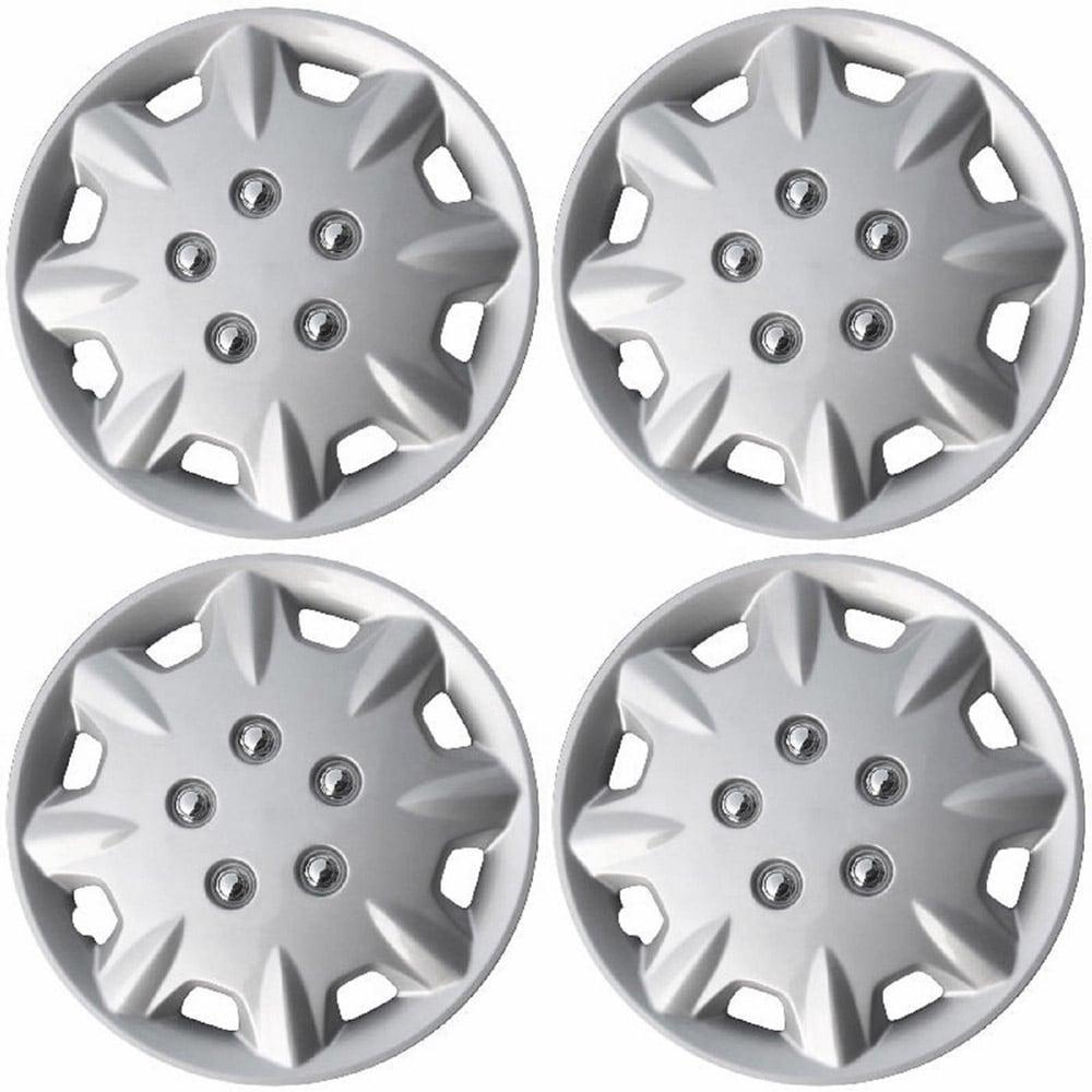 OxGord HC-55039-14SL 15 inch Silver Hubcaps Set of 4 - 55039
