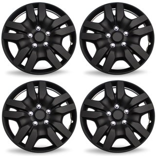 "OxGord Matte Black 16"" Wheel Cover/Hub Cap Fits Most Vehicles - 53078"
