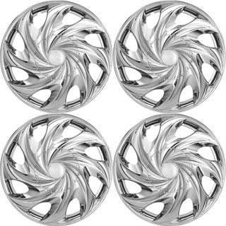 OxGord Chrome 14 Inch Wheel Cover/Hub Cap Fits Most Vehicles - 5644