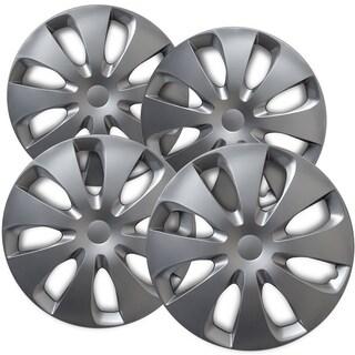 "OxGord Silver 15"" Wheel Cover/Hub Cap Fits Select Toyota Prius - 61166"