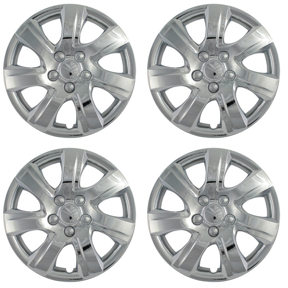 "OxGord Silver 16"" Wheel Cover/Hub Cap Fits Select Toyota ..."