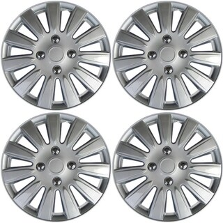 OxGord Silver 15 Inch Wheel Cover/Hub Cap Fits Most Vehicles - 61164