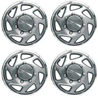 OxGord Chrome 15 Inch Wheel Cover/Hub Cap Fits Most Vehicles - 923
