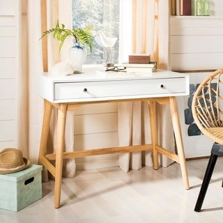 Convenience Concepts Oslo Wood 1 Drawer Desk Free