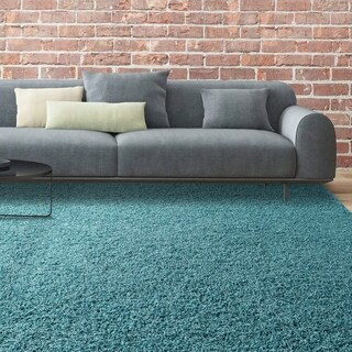icustomrug bella shag rug luxurious and thick in teal 5u0027
