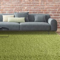 iCustomRug Bella Shag Rug - Luxurious and Thick In Lime Green - 5' x 7'