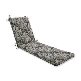 Pillow Perfect Outdoor/Indoor Tamara Paisley Quartz Chaise Lounge Cushion 80x23x3
