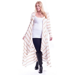 Hot Ginger Women's Plus Size Long Drape Front Open Cardigan (More options available)
