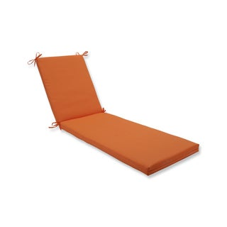 Pillow Perfect Outdoor/Indoor Sundeck Orange Chaise Lounge Cushion 80x23x3
