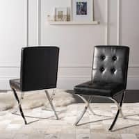 Safavieh Walsh Glam Black Chrome Tufted Side Chair