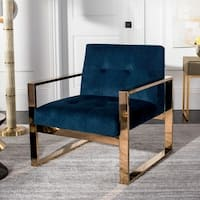 Safavieh Vasco Glam Navy Accent Chair